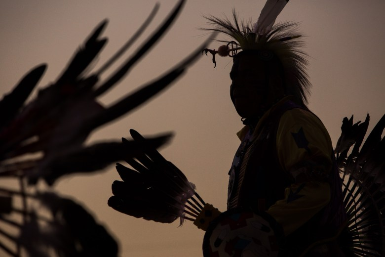 American Indians in Texas Dance Theater perform ceremonial dances during the San Pedro Creek groundbreaking. Photo by Scott Ball.