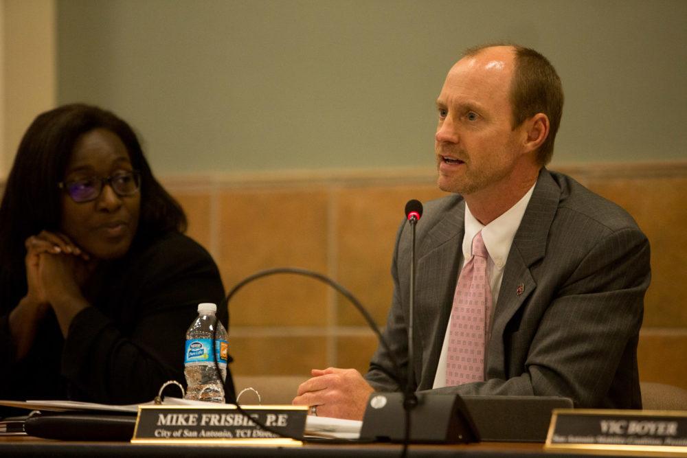 San Antonio City Engineer Mike Frisbee speaks to the future of traffic in San Antonio. Photo by Scott Ball.