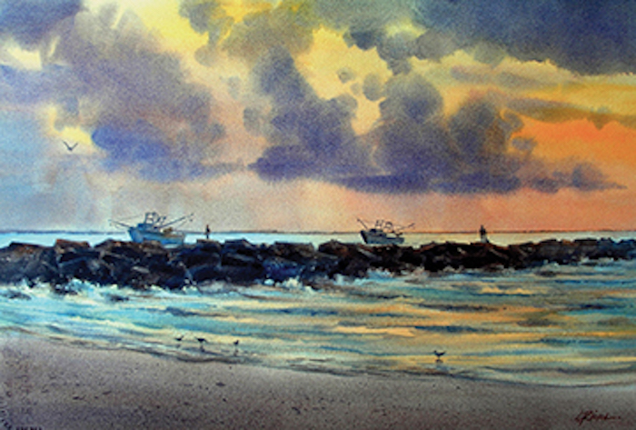"""South Jetty Sunrise"" by Lee Ricks."