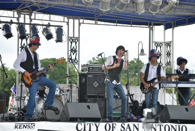 The Take Note Youth Band performs for a 4th of July celebration sponsored by the City of San Antonio.  Photo courtesy of City of San Antonio