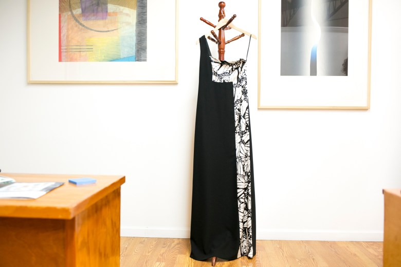 One of the dresses by designer Pineda Covalin that will be hung at the Instituto during the festival.