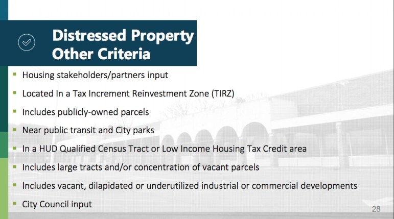 neighborhood improvements bond committee presentation