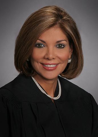 Incumbent Eva Guzman, Republican candidate Texas Supreme Court, Place 9.