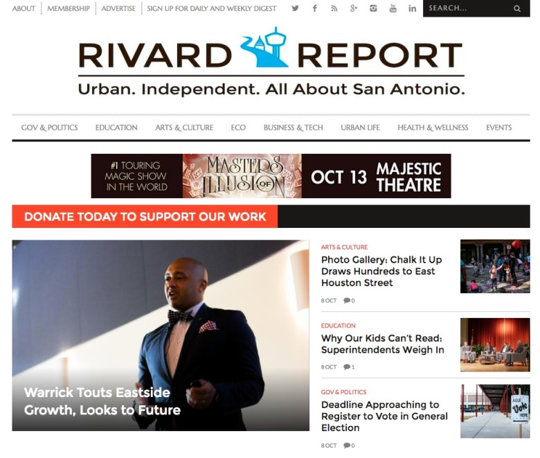 The Rivard Report on Saturday afternoon, Oct. 8, 2016 (yesterday).