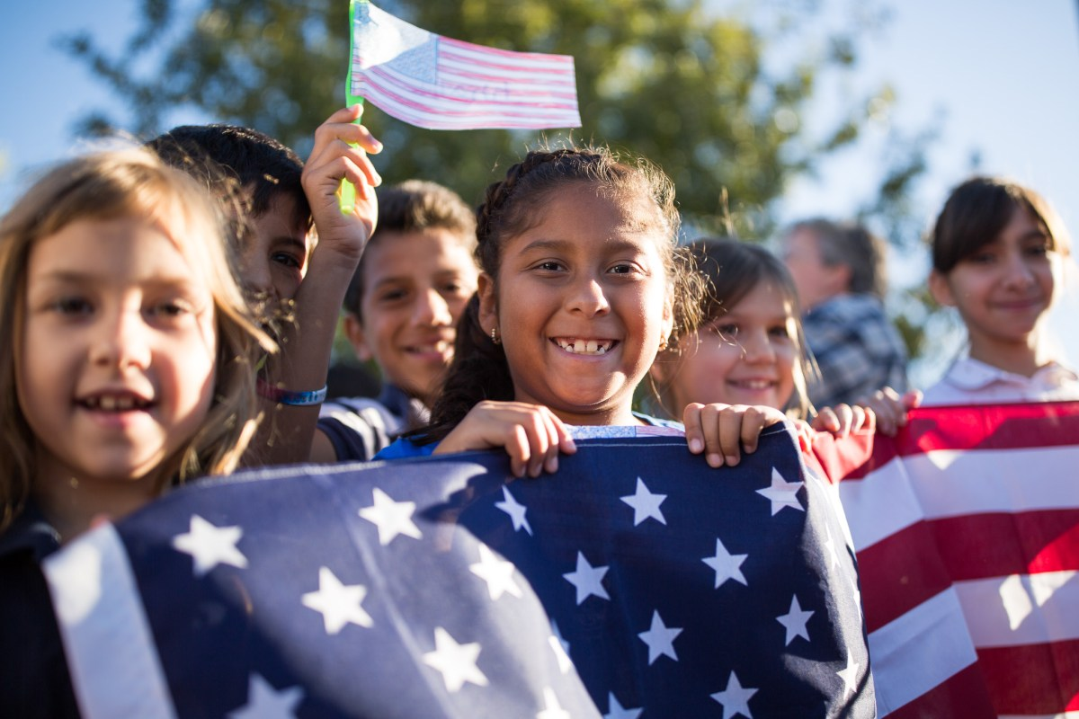 The final country announced was the United States of America which brought many children along.