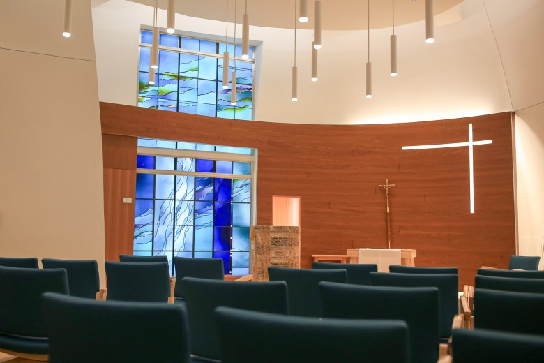 The updated chapel was designed by the Sisters of Charity of the Incarnate Word.