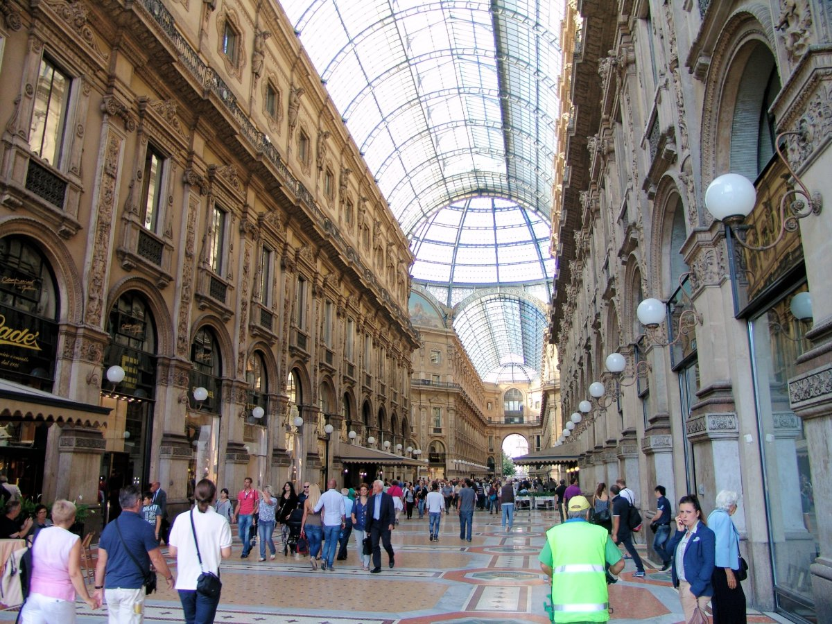 Milan's Galleria Vittorio Emanuel, one of the many examples of great public spaces Garvin cites. Photo by Dennis Matheson via Flickr.