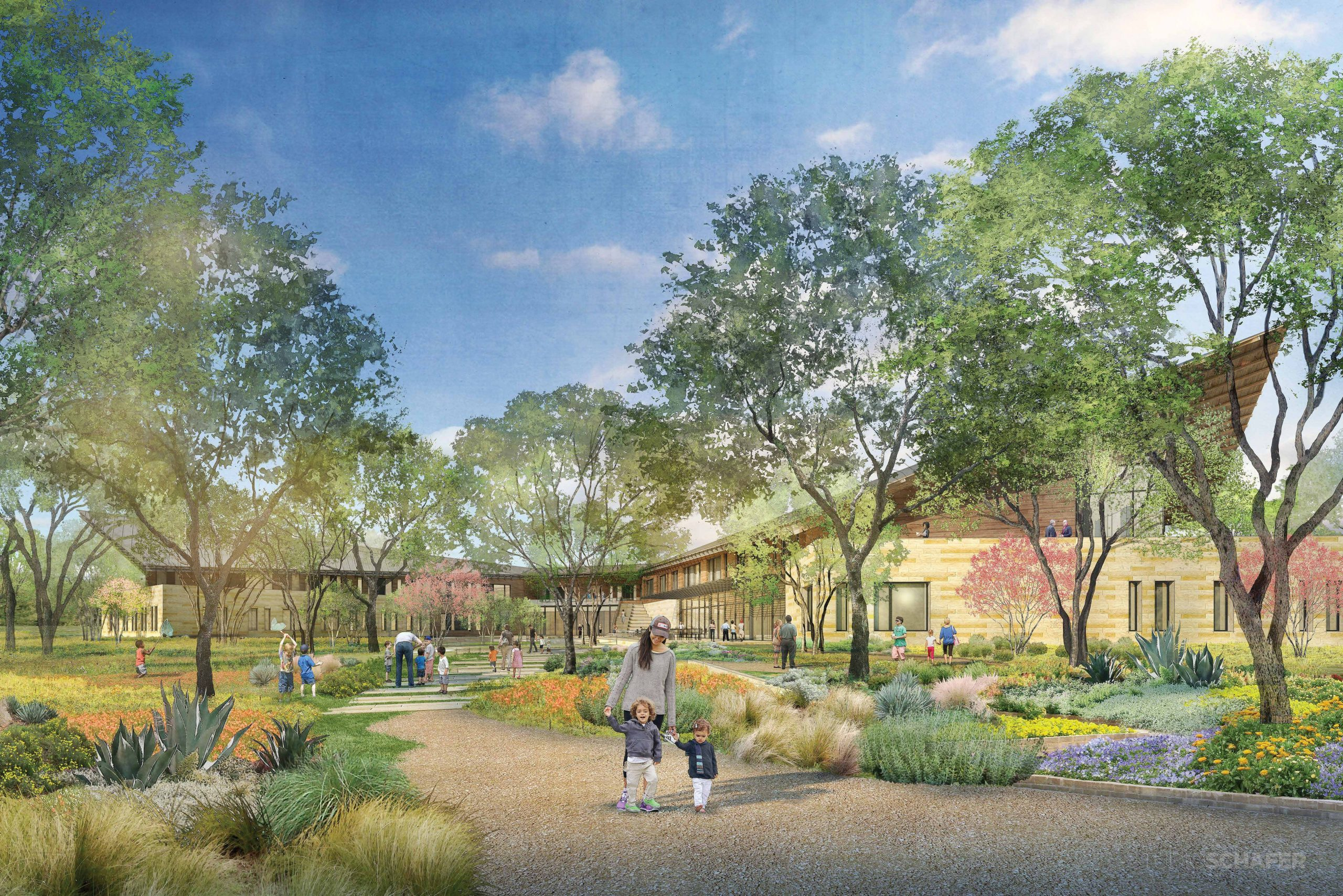 The new ChildSafe facility will feature an interior courtyard.