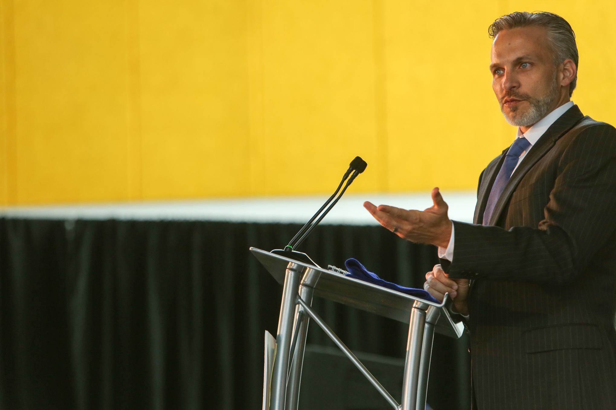 KIPP: San Antonio CEO Mark Larson recollects the beginnings of his pathway into KIPP. Photo by Scott Ball.