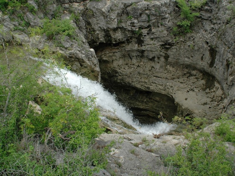 The Seco Sinkhole, located in western Medina County. Photo courtesy of the Edwards Aquifer Authority.