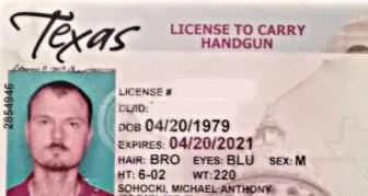 Michael Sohocki's handgun license.