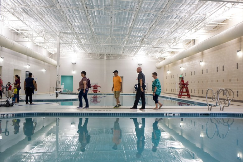 The pool at Mays Family YMCA at Potranco. Photo by Kathryn Boyd-Batstone.