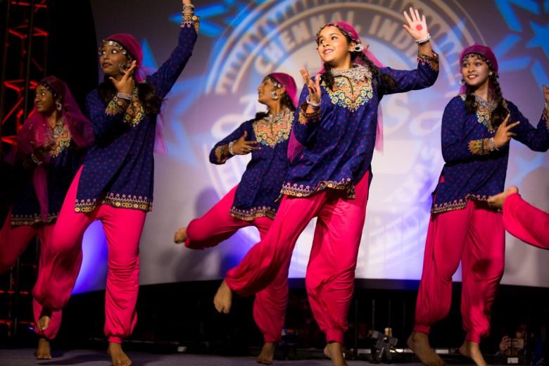 Young girls perform a dance at La Villita.