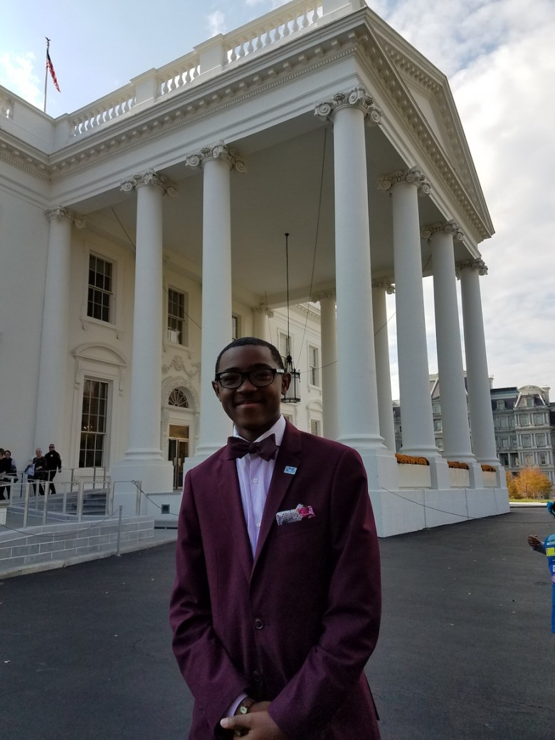 Dreamer Eric Lewis at the White House.