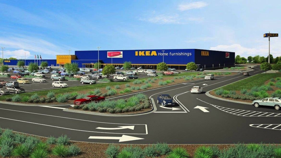 Architectural rendering of proposed IKEA Live Oak.