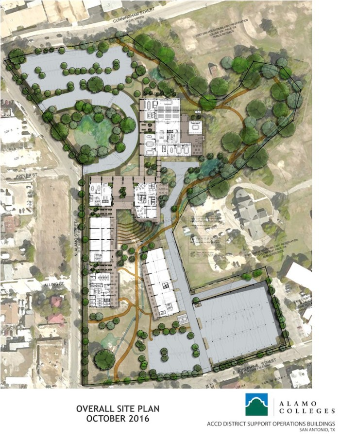 Renderings for Alamo Colleges headquarters.