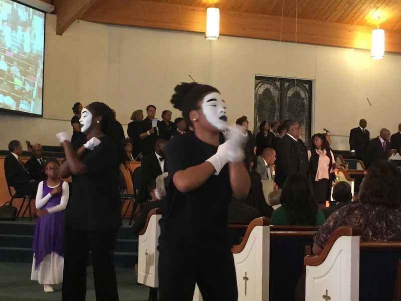 Dancer with Union Black Baptist Church's MIME Ministry in Winston-Salem.