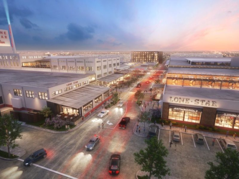 Conceptual rendering of the Lone Star Brewery redevelopment project.
