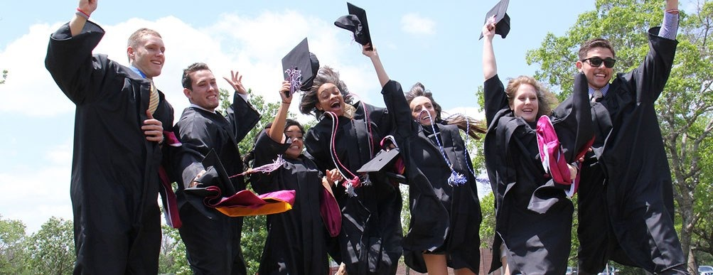 Graduation day on May 11, 2013 at Schreiner University in Kerrville, Texas.