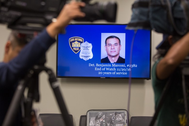 Detective Benjamin Marconi # 2382 of the Special Victims Unit (SVU) was 50 years of age with 20 years of SAPD service.