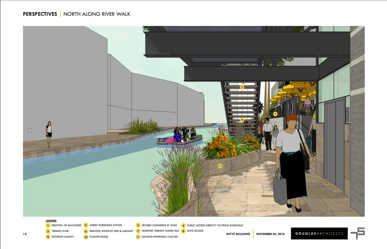 Rendering of a proposed river view of the Witte Museum.