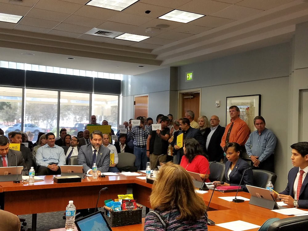 City Council listens to proposed rule changes for rideshare and traditional vehicle for hire companies on Nov. 30, 2016. Photo by Iris Dimmick.