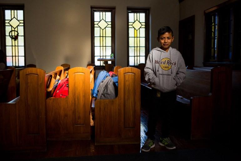 Jose Edilson Ramirez, 11, and his mother Vilma Yolanda Ramirez, 33, traveled from Guatemala through Mexico and to the US by bus.