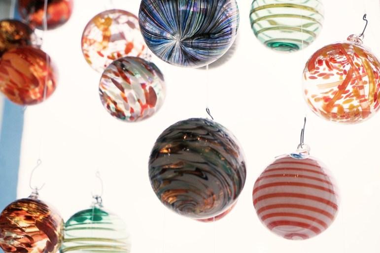 Garcia Glass ornaments.