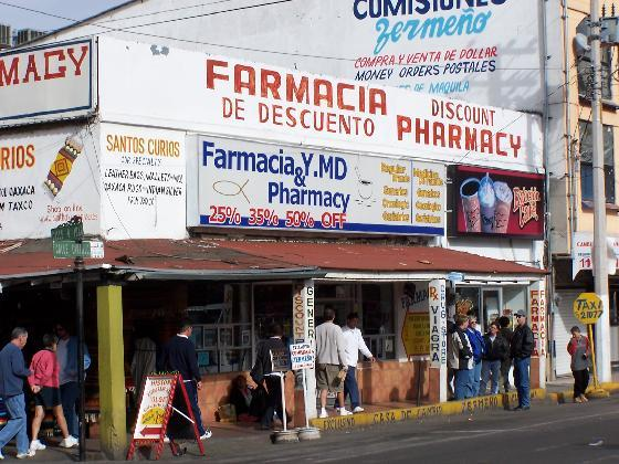 A Discount Pharmacy in Nogales, in the state of Sonora, Mexico.