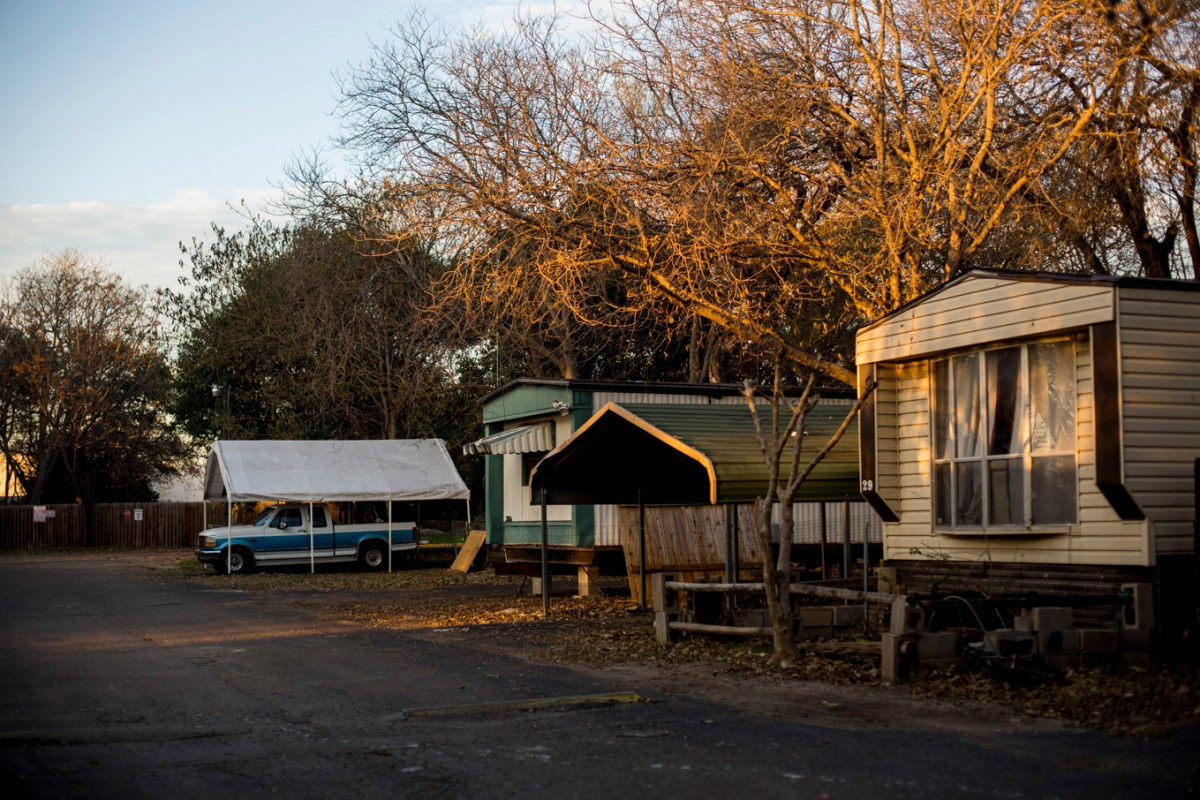 City officials found high levels of E. coli in the soil at Oak Hollow Mobile Home Park.