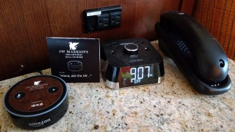 With the Amazon Alexa in only a few hotels, it could potentially replace the phone and alarm clock in hotel rooms if its use becomes widespread.