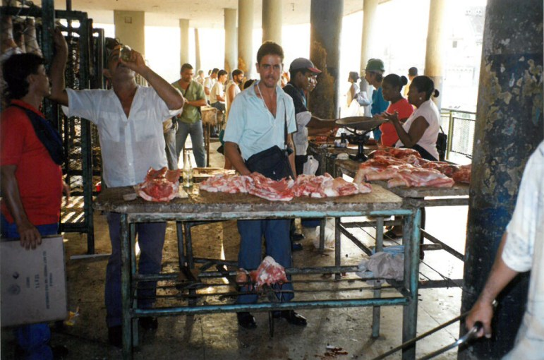 Market where farmers could sell meat for private profit. (Note that this market is in Cuba, not Haiti. Hufford mentions a Haitian meat market in his op-ed.)