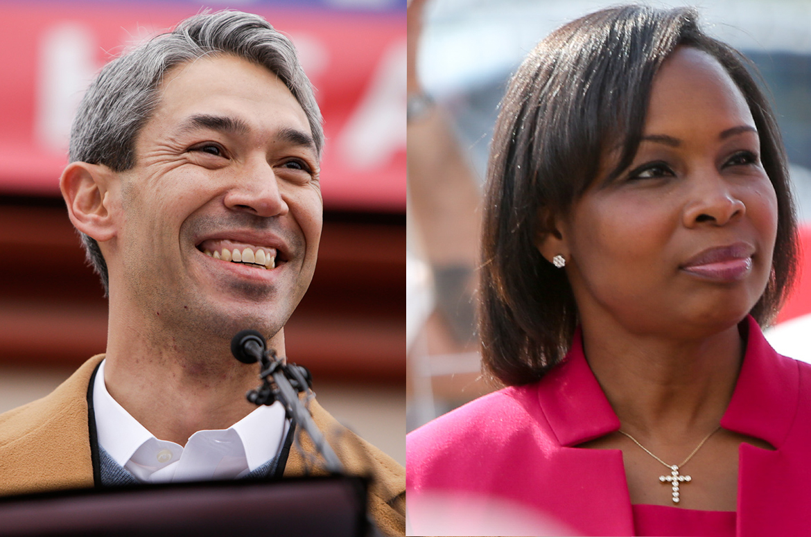 Mayoral candidate and District 8 Councilman Ron Nirenberg and incumbent Mayor Ivy Taylor (right) are heading for a runoff election to be decided on June 10th.