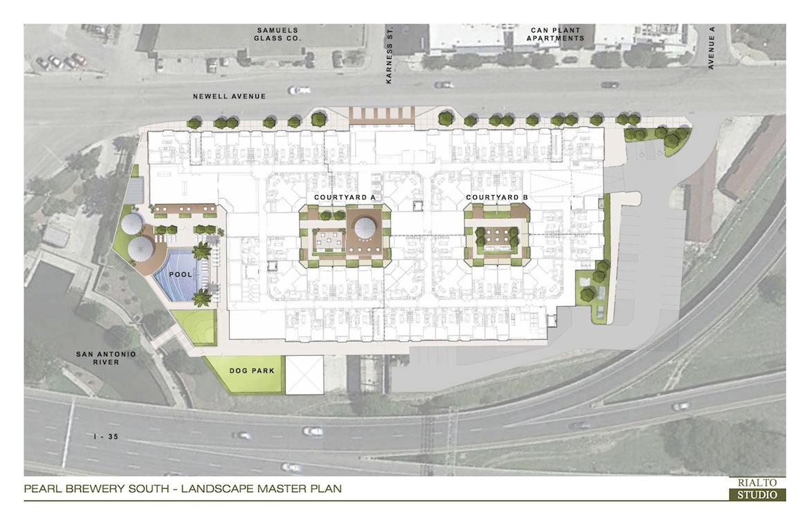 Site Plan of Silver Ventures' planned Brewery South apartment complex.