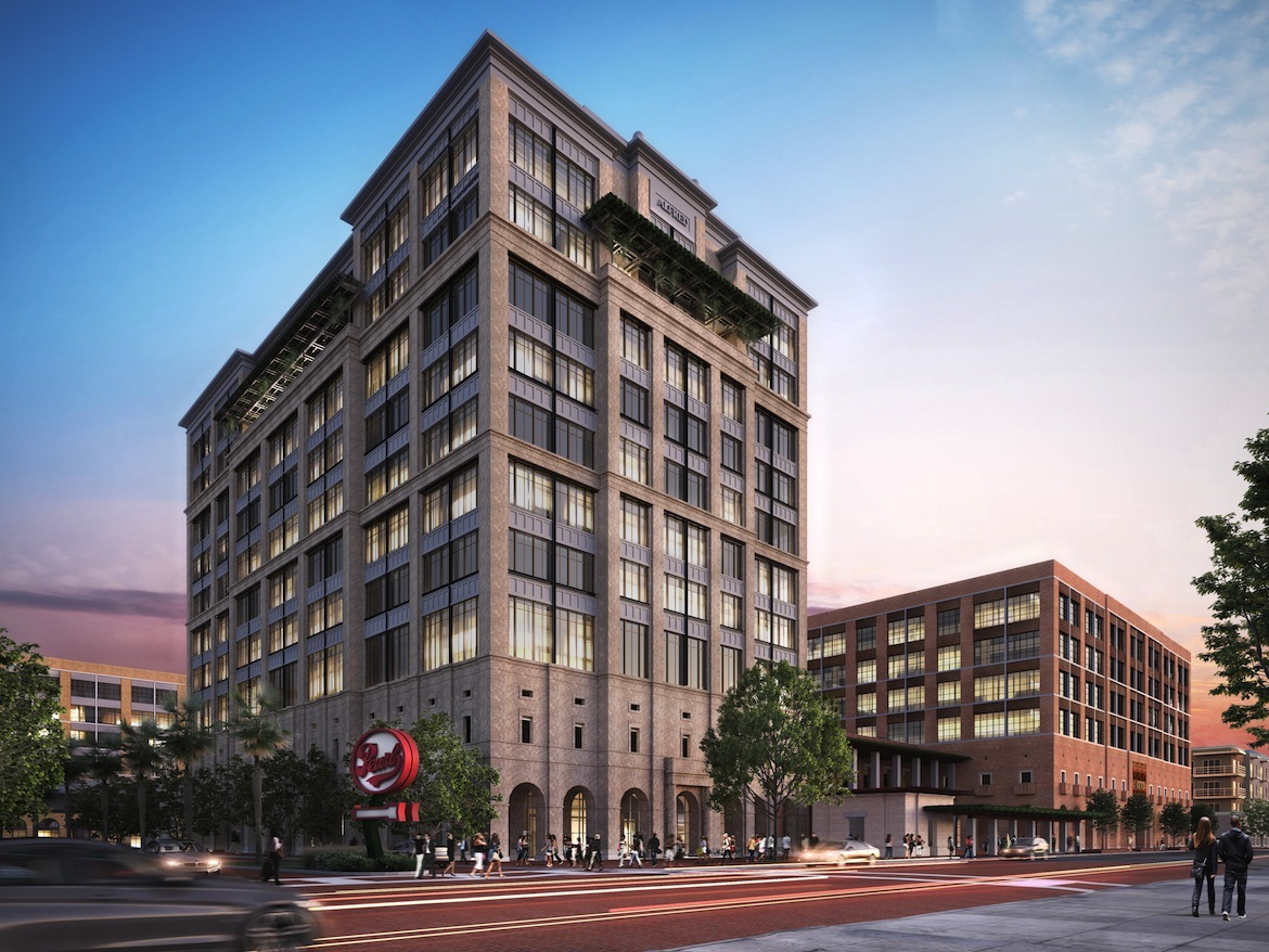 Silver Ventures will build two office towers and a parking garage on Broadway Street.