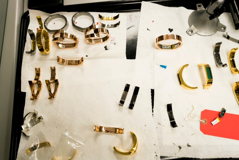 Wisewear produces wearable technology device bracelets esthetically designed in either gold or silver in different styles.
