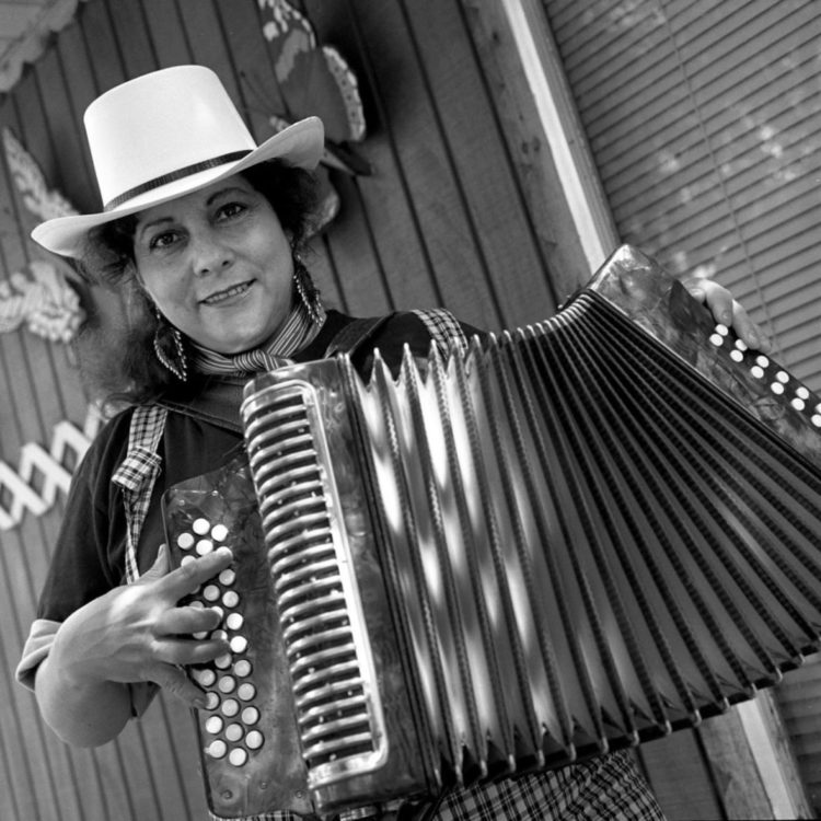 """Eva Ybarra will perform at """"Conjunto Meets Country Western"""" at the Briscoe Western Art Museum on Feb. 21."""