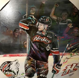 The painting A.J. Greer commissioned to auction for charity.