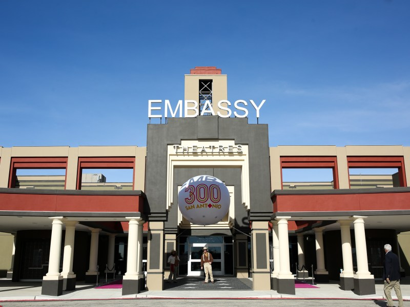 The Santikos Embassy Theater entrance.