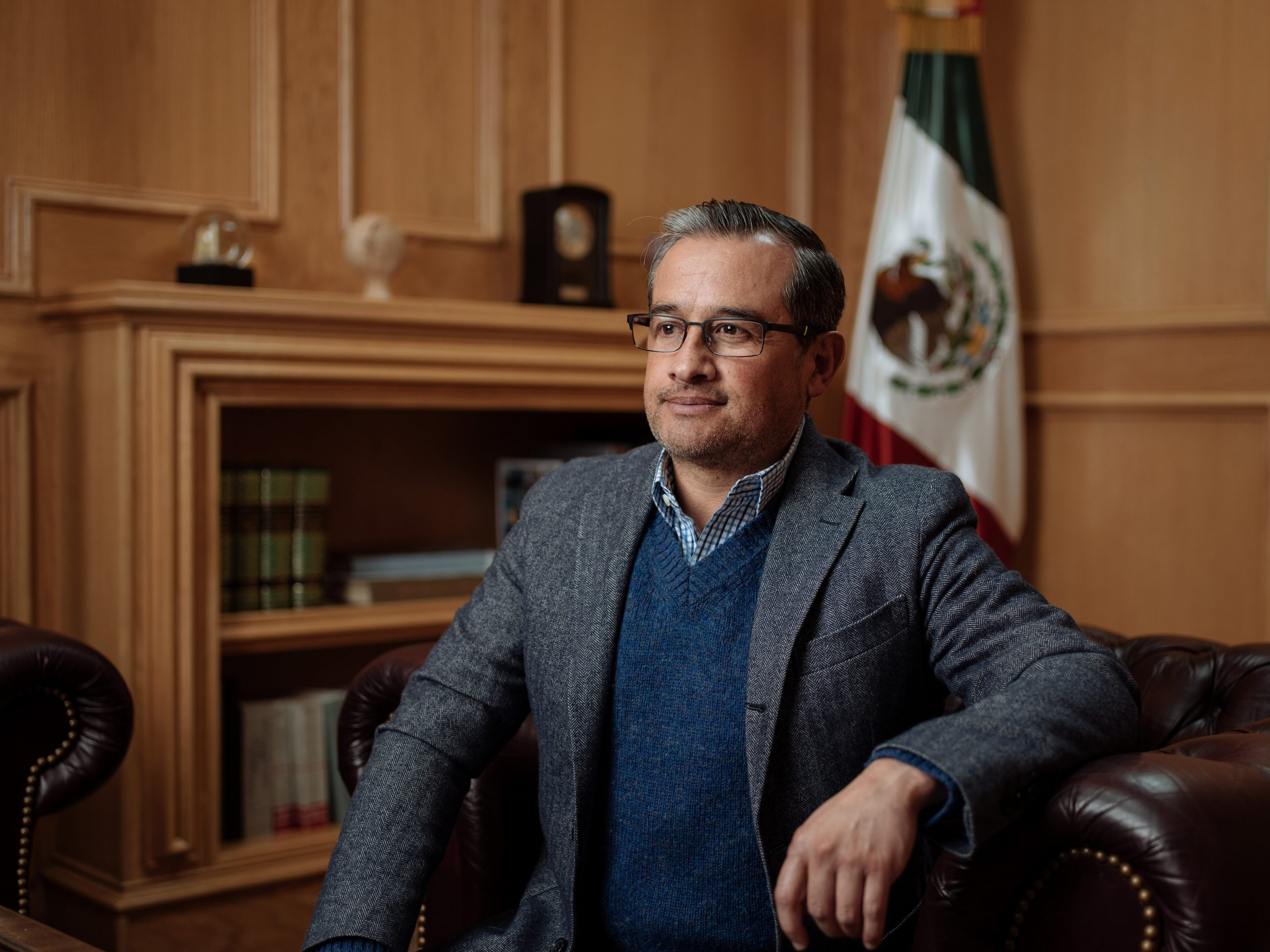 Consul General of Mexico in San Antonio Héctor Velasco Monroy sits for a portrait the Mexican Consulate in San Antonio on Friday, Jan. 27.