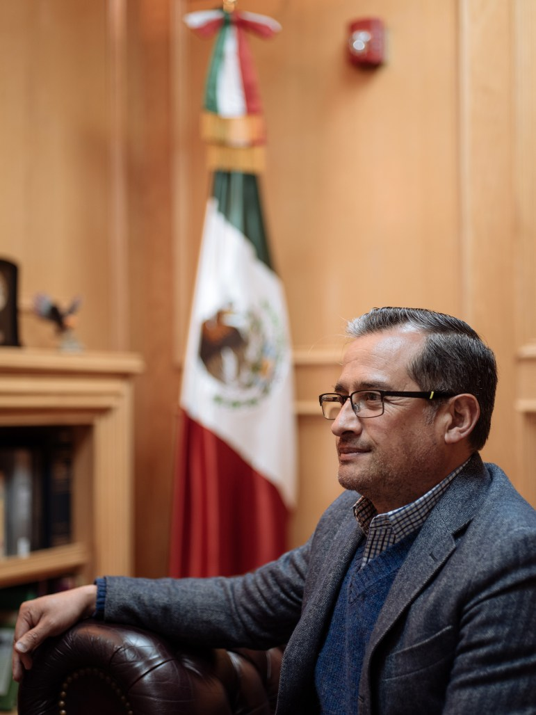 Consul General of Mexico in San Antonio Héctor Velasco Monroy sits for a portrait the Mexican Consulate in San Antonio, TX on Friday January 27th.