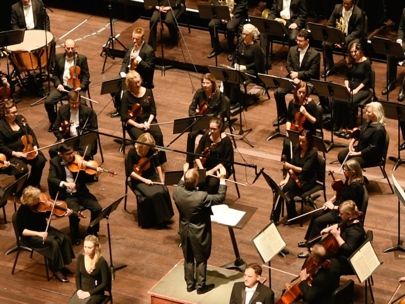 The San Antonio Symphony performs at the Tobin Center.