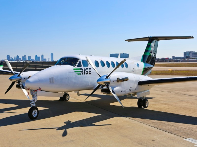 RISE offers two same-day, round-trip flights per week out of San Antonio to Dallas or Houston.
