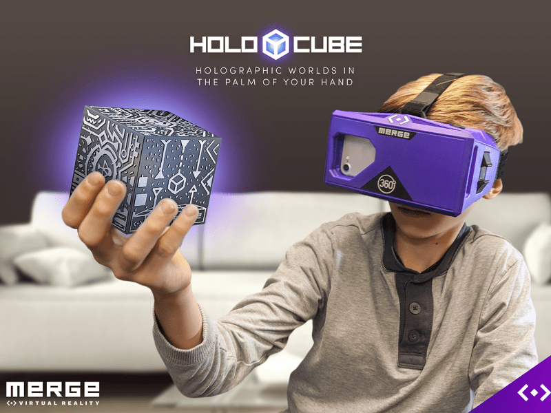 Merge VR's Holocube is the world's first holographic toy, a 3D projection platform that allows you to interact with a VR world.