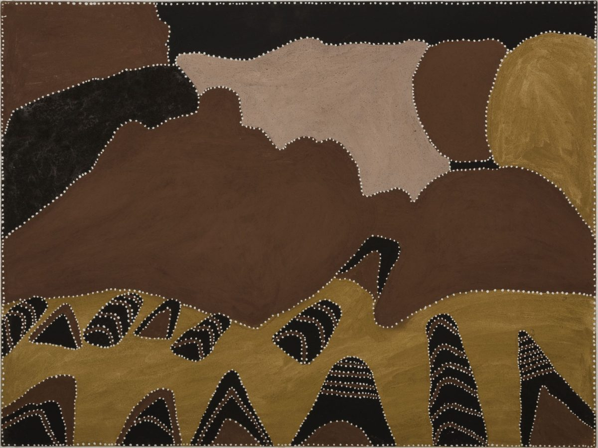 Artist Patrick Mung Mung is Australian. The 2007 painting is titled Purnululu , in natural ochre and pigments on canvas.