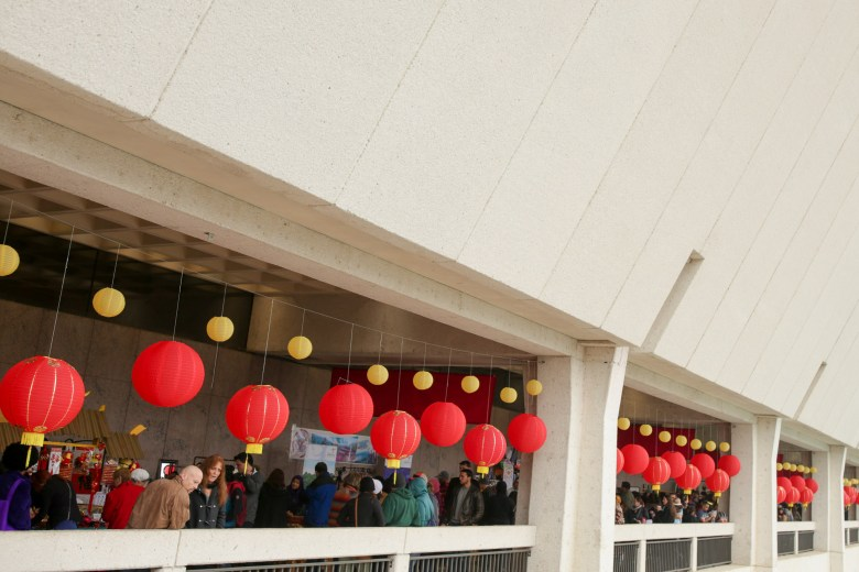 Red Chinese lanterns lined the perimeter of the Institute of Texan Cultures for the 30th annual Asian Festival.