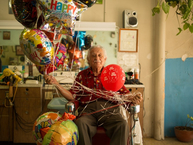 Barber Willie Cedillo turned 90 this month and continues to cut hair at his age.