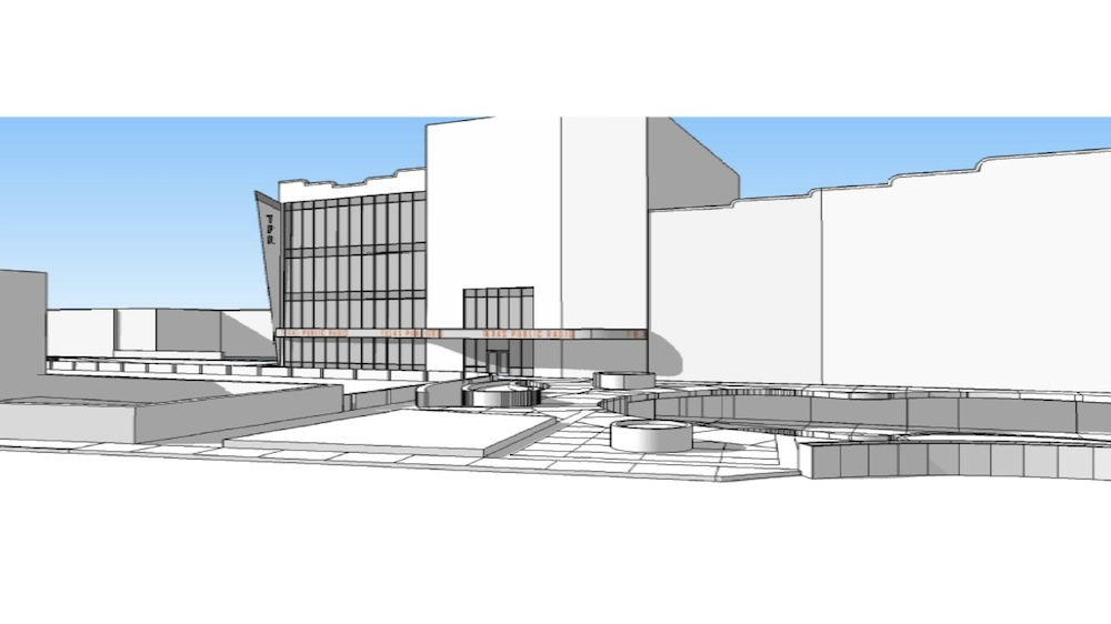 Preliminary rendering of TPR's proposed headquarters off of San Pedro Creek.