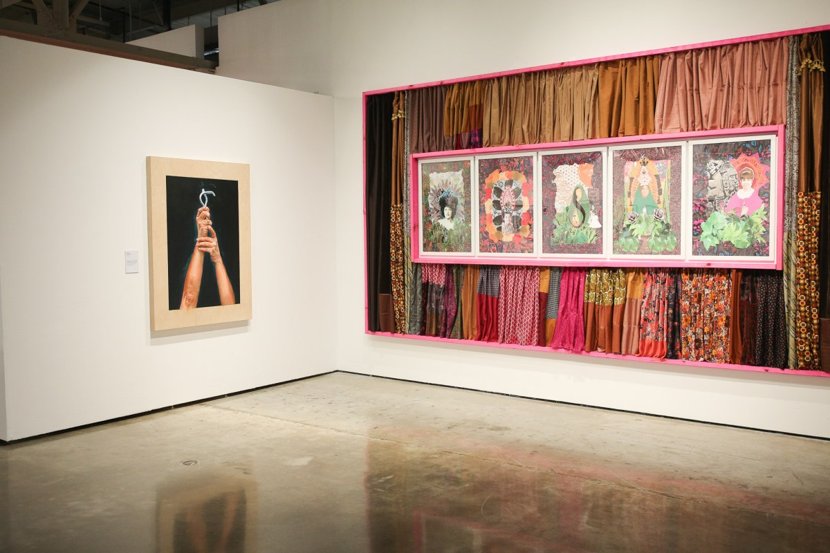 From left: Unfinished by Elizabeth Rodriguez, and Remedies For (Re)Membering: Portraits of My Mother by Sarah Castillo.