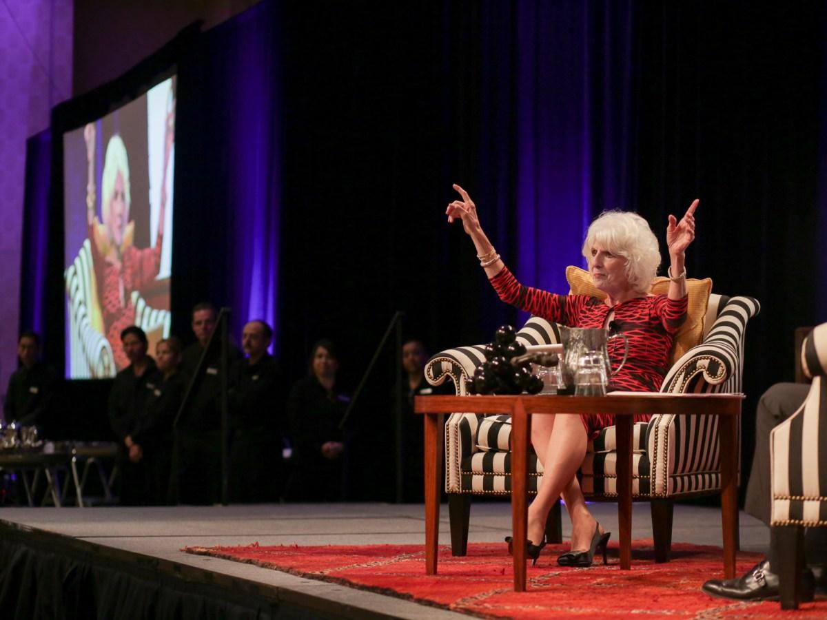 Diane Rehm during her interview with Jeffrey Rosen.